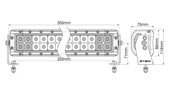 Stedi 14inch LED lights Diagram