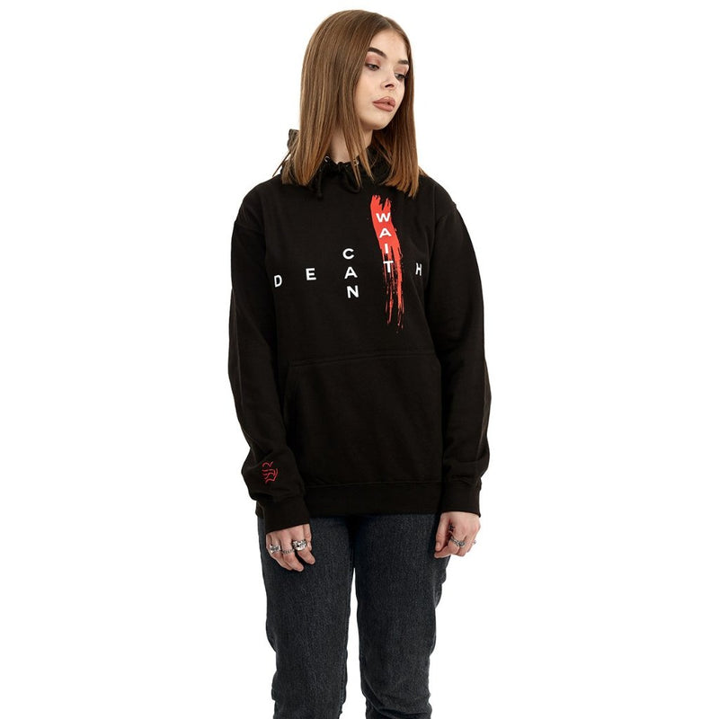 death can wait hoodie (black)