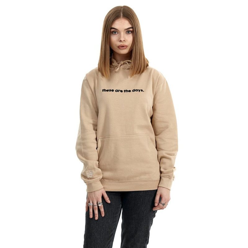 these are the days hoodie (tan)