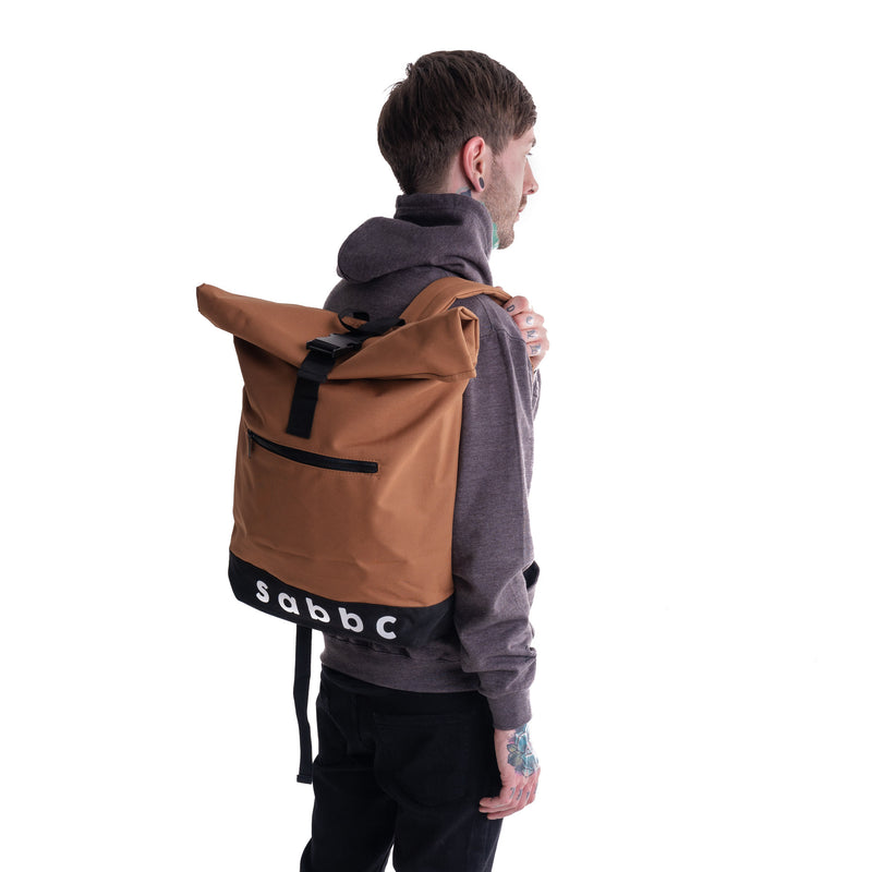 roll top backpack (tan)