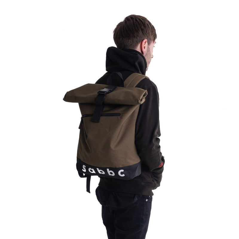 roll top backpack (olive)