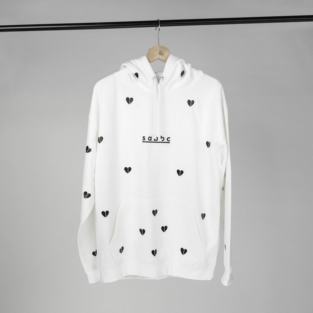 hurts all over hoodie (white)
