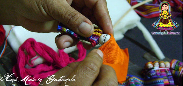 worry dolls hand made by mayan artisans