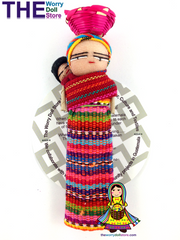 Worry Dolls Magnet with Basket
