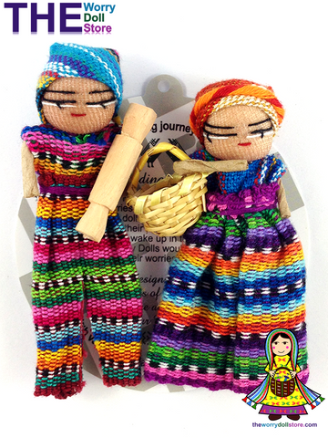 Worry Dolls Boy and Girl Magnet Set