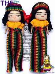 Rasta worry dolls magnet set