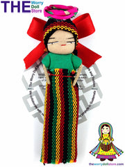 rasta worry dolls girl magnet