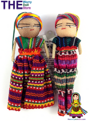 Worry Dolls Girl & Boy Set 12cm