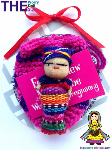 mum to be in knit pouch worry dolls australia