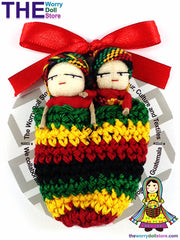 Rasta Worry Dolls Boy and Girl in Knit Pouch