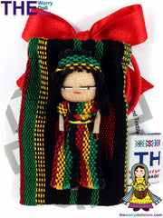 Rasta Worry Doll Boy 5cm in Handwoven Pouch