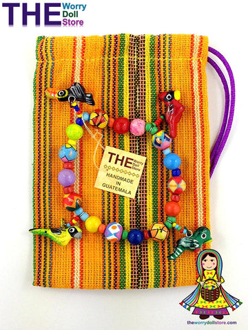 ceramic bracelets from guatemala in a pouch