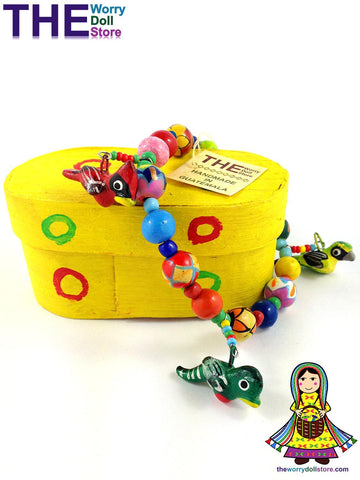 ceramic bird bracelets in yellow box