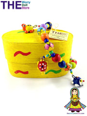 ceramic bracelets in wooden box