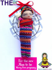 Worry Dolls Mum To Be 12cm Magnet