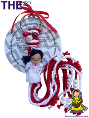 worry dolls nurse keyring