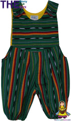 romper suit green and orange the worry doll store