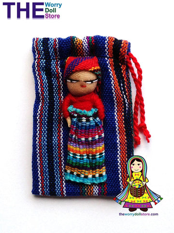Worry Dolls Pouch and Doll for Boys