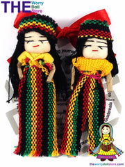 Rasta Worry Dolls Boy and Girl 8cm