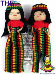 Rasta Worry Dolls Boy and Girl 12cm