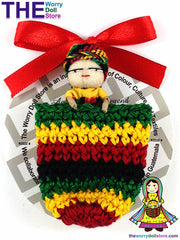 Rasta Worry Doll Girl in Knit Pouch 5cm