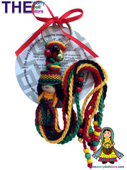 rasta worry doll keyring
