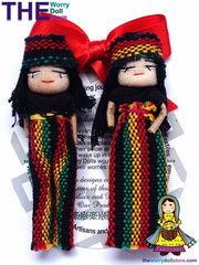set rasta worry dolls from guatemala