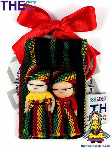 rasta style worry dolls at the worry doll store
