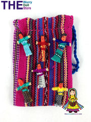 mini worry dolls in small bag for girls.