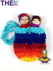 Worry Dolls in Knit Pouch with Boy Dolls