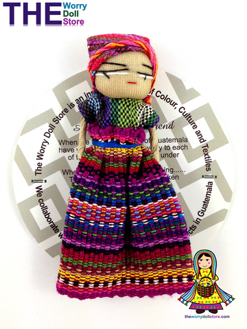 Worry Doll Girl 8cm with Story