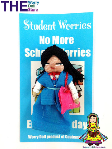 Worry Dolls Girl Student Worries