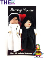 Worry Dolls Bride and Groom Set Marriage Worries