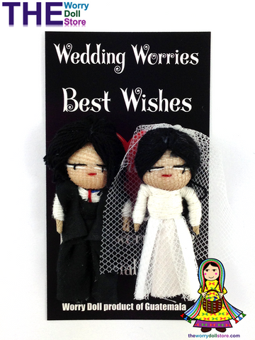 Worry Dolls Bride and Groom Set Wedding Day Worries
