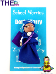 Worry Dolls Girl School Worries