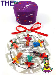 mini worry dolls in purple hand painted box australia