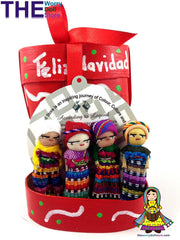 christmas worry dolls wooden boxes