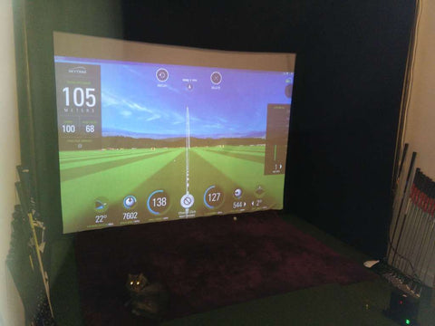 simulateur de golf domicile, Skytrak, Here We Golf