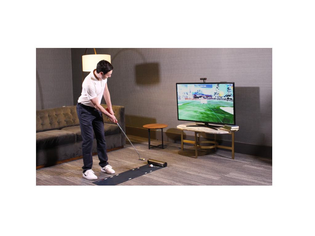 simulateur de golf, simulateur de putting, entrainement putting, Exputt, SAM Puttlab