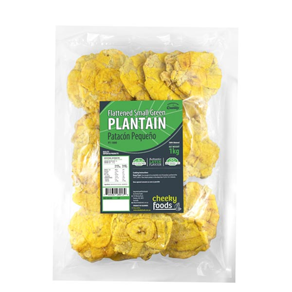 Patacon Pequeno 1kg / Flattened Small Green Plantain