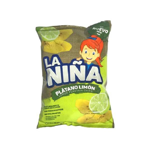Lime Green Plantain Chips / Plátano Limón Chips 75gr
