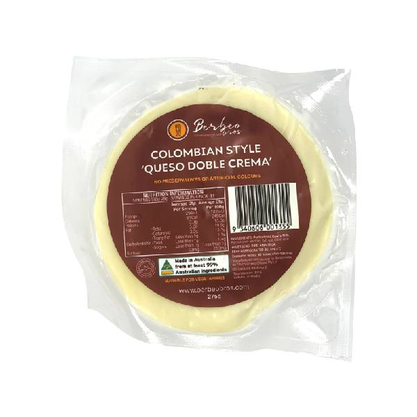 Queso Doble Crema Berbeo Bros / Colombian Style Cheese  (275g)