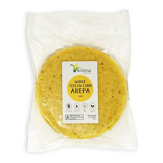Arepa de Maiz Amarillo / Yellow Whole Corn Arepa . Pack 5 units 500 grams