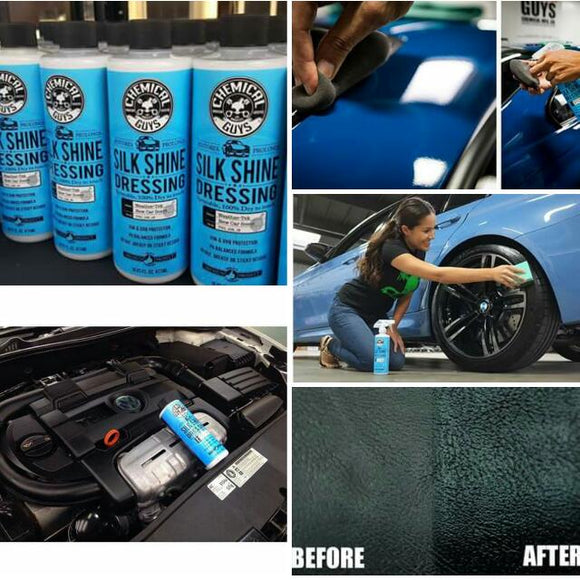 Chemical Guys Silk Shine Vinyl, Rubber, Plastic Satin Protectant Dressing