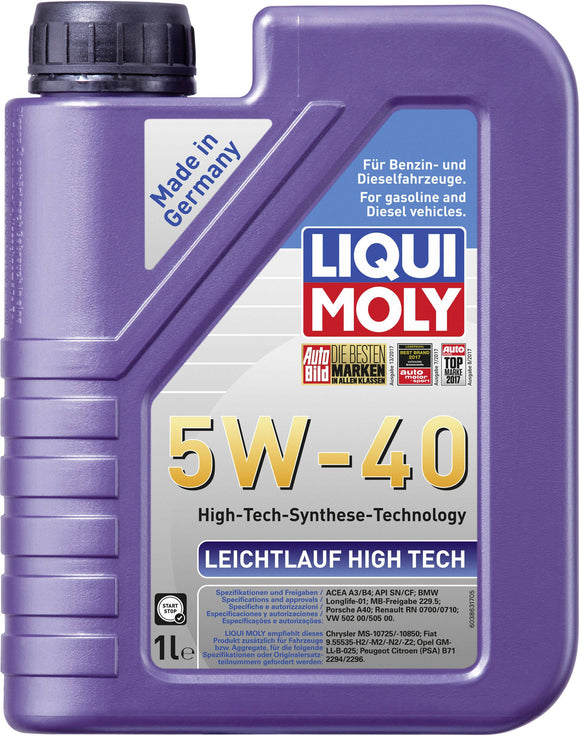 Liqui Moly Motor Engine Oil - Leichtlauf High Tech 5W-40