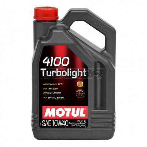 Motul Motor Engine Oil - SAE 10W40 4100 TURBOLIGHT - 5L