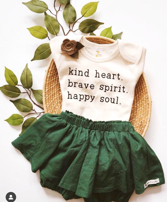 Kind heart, brave spirit, happy soul