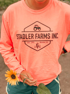 Neon coral long sleeve
