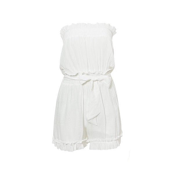 White Tube Romper