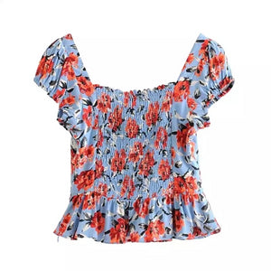 Emery Floral Top